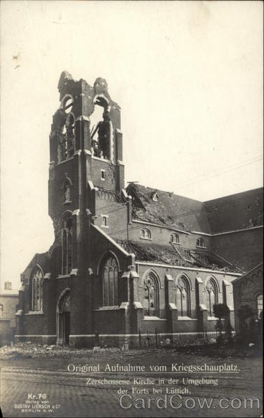War Ravaged Church in Germany Military
