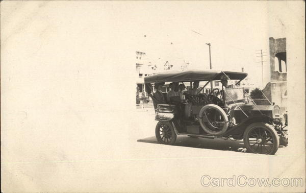 Antique Automobile with People Cars