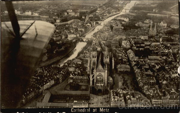 Aerial View of Cathedral Metz France