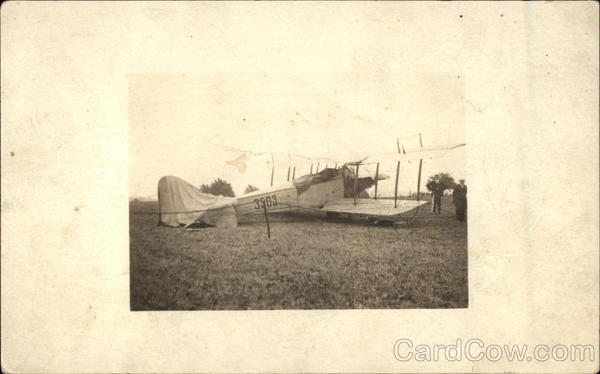Biplane on the Ground Aircraft