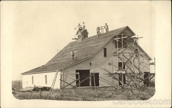 Roofing on a Barn Farming