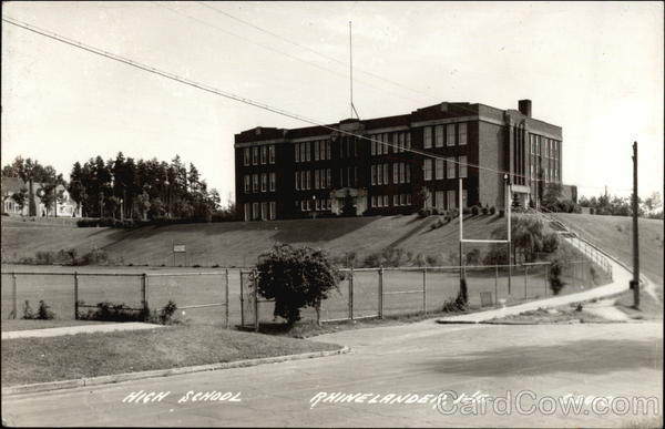 Photograph of Highschool and Grounds Rhinelander Wisconsin