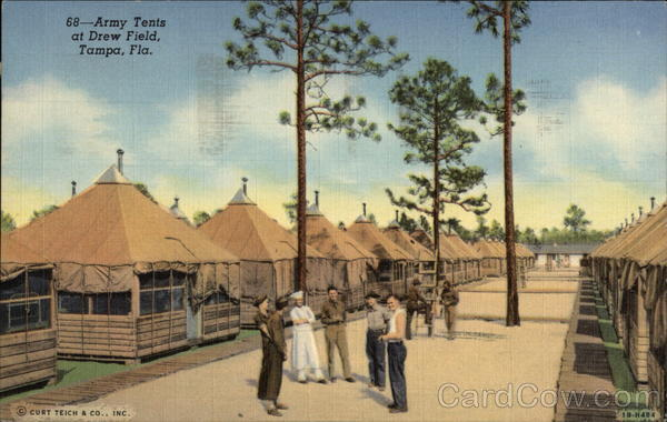 Army Tents at Drew Field Tampa Florida