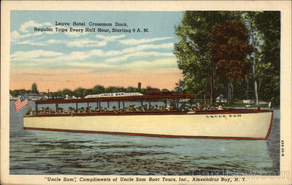 Uncle Sam, Compliments of Uncle Sam Boat Tours, Inc Alexandria Bay New York