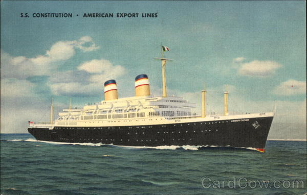 S.S. Constitution - American Export Lines Cruise Ships