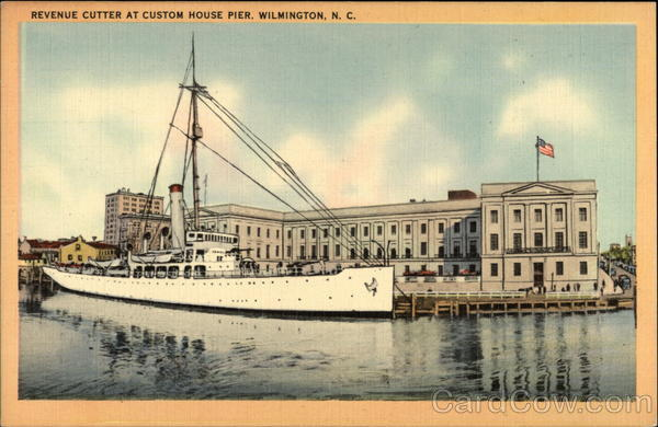 Revenue Cutter at Custom House Pier Wilmington North Carolina