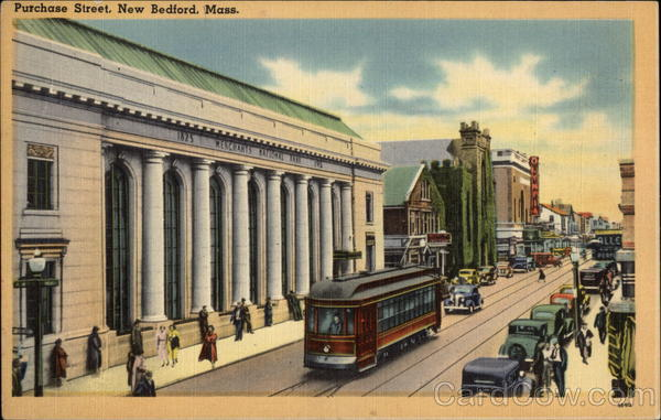 View of Purchase Street New Bedford Massachusetts