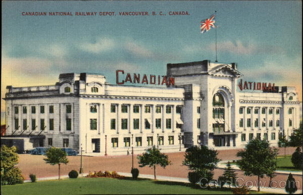 Canadian National Railway Depot Vancouver Canada British Columbia