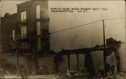 Burdick House Ruins - Burned December 9, 1909
