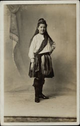 Girl in Traditional Scottish Costume