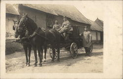 Two Horse Carraige with Officers