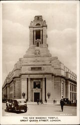 The New Masonic Temple, Great Queen Street Postcard