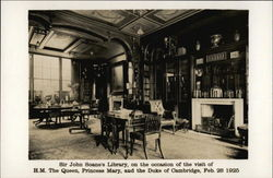 Sir John Soane's Library, on the occasion of the visit of HM The Queen Postcard