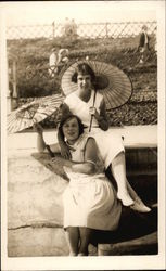 Two Women with Parasols