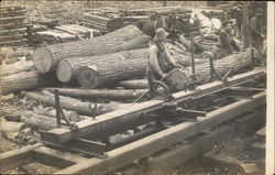 Men Working at Lumber Mill