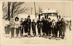 """Happy Skiers"" - Women on Snow Skis"