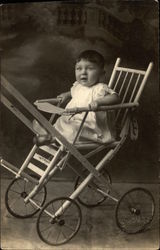 Vintage Photograph of Infant in Stroller