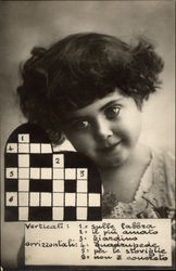 Young Girl with Crossword