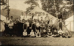 Group of Young Men and Boys Camping
