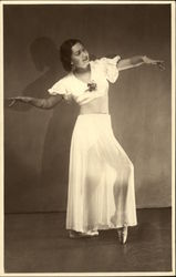 Vintage Photograph of Ballerina in Point Shoes