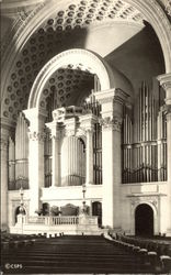 Platform and Organ, The First Church of Christ, Scientist Postcard