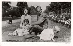 Queen Elizabeth II, Prince Philip, Prince Charles and Princess Anne