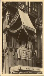 Their Majesties King George VI and Queen Elizabeth Appearing on the Balcony of the Windsor Hotel