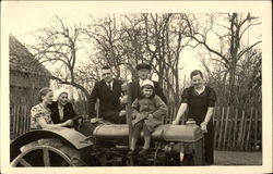 Family with Tractor