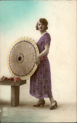 Woman in a Dress with a Parasol