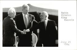 Rabin, Clinton, King Hussein, July 25, 1994