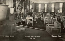 SS Ile de France - The Salon Mixed - Gay & Modern - First Class French Line