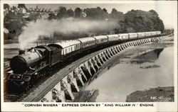 """Cornish RIviera"" Express Drawn by ""King William IV"" Engine"
