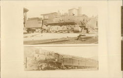 Two Views of Train Locomotives