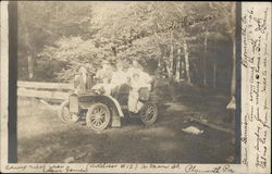 A Family in an Automobile of 1906