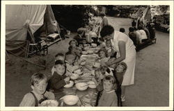 Children Eating at a Camp
