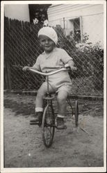 Vintage Photograph of Little Boy on his Tricycle