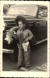 Vintage Photograph of Young Boy Dressed as a Cowboy