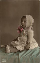 Portrait Photograph of Baby Girl with Pacifier