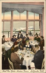 Hotel New Yorker Aviation Terrace at LaGuardia Field Postcard