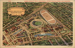 Aerial View of Texas Centennial Exposition Buildings and Grounds