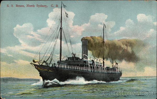 S. S. Bruce, North Sydney, C.B Steamers