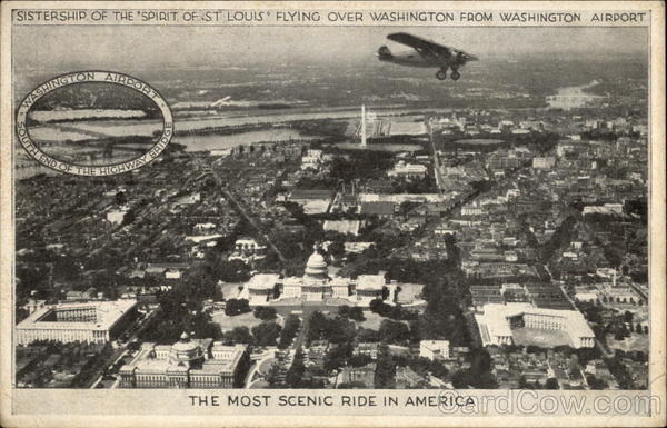 Flying over Washington DC District of Columbia