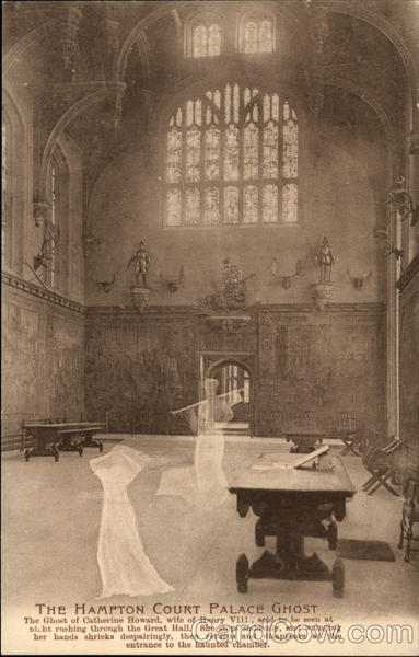 The Hampton Court Palace Ghost Antique Postcard