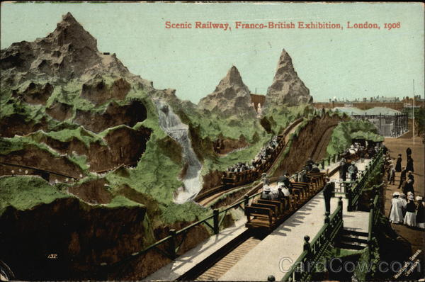 Scenic Railway, Franco-British Exhibition, London, 1908
