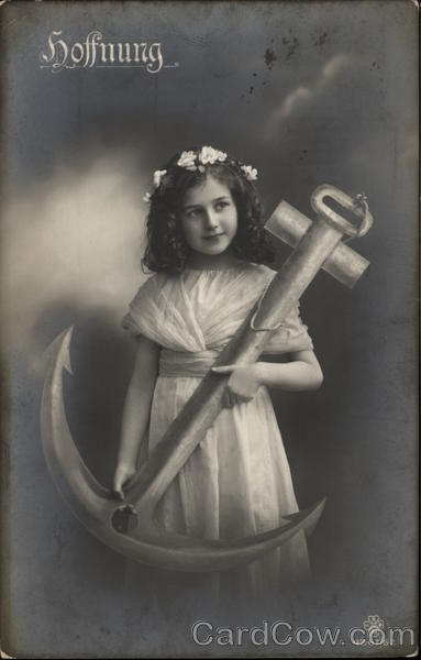 Hope - Young Girl Holding Large Anchor Girls