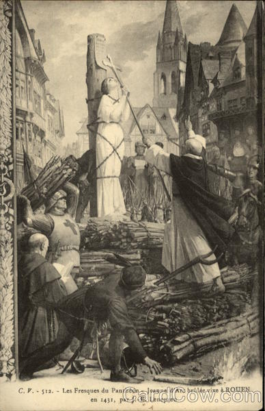 Joan of Arc being Burned at the Stake Religious