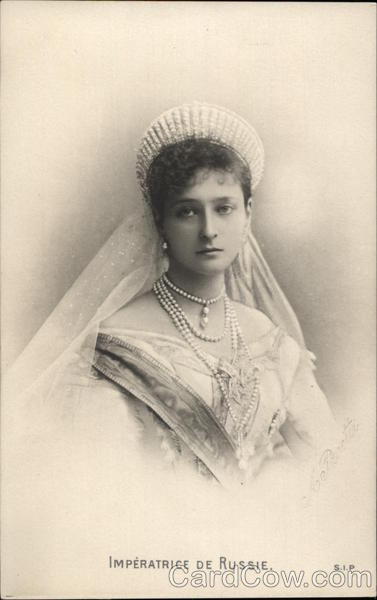 Empress of Russia Vintage Postcard