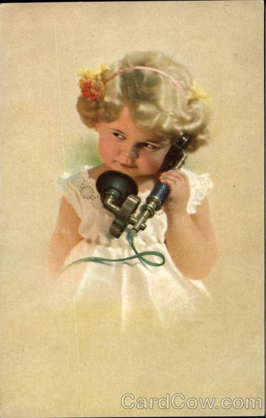 Little Girl on the Telephone Telephones