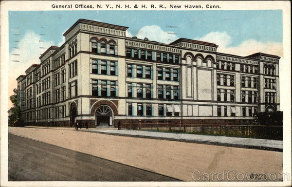 General Offices, NY, NH & HRR, New Haven, Conn Trains, Railroad