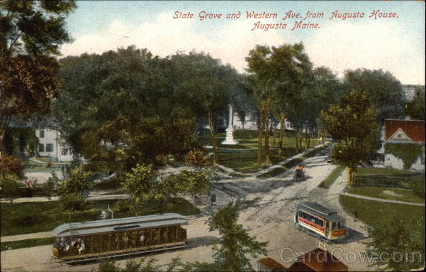 State Grove and Western Ave. from Augusta House Maine